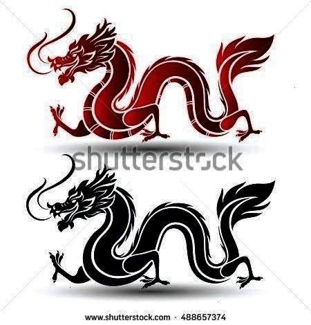 DrachenVektorIllustration Lizenzfreie Vektor Royalty Free 488657374  Illustration des Drachen des traditionellen Chinesen Vektorillustration Illustration Traditionelle ch...