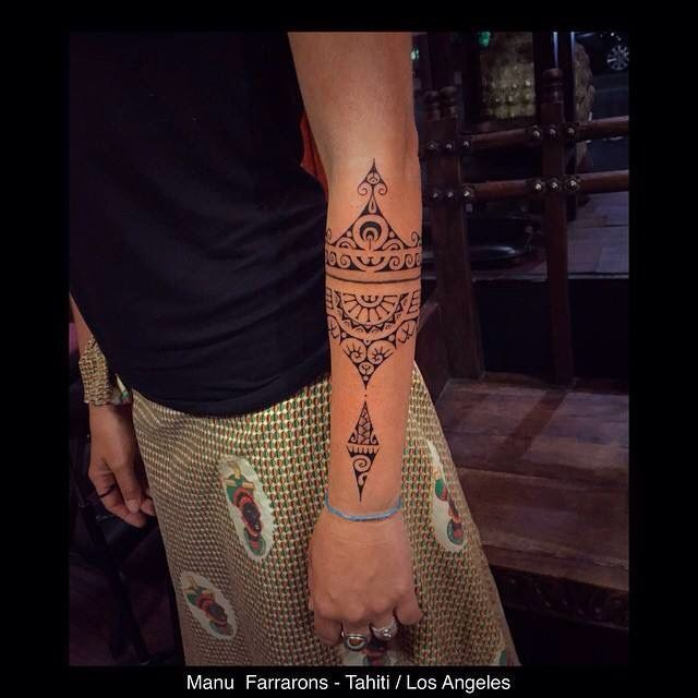 Maori Tattoo Uk: I Believe Polynesian Tattoo Forearm Band