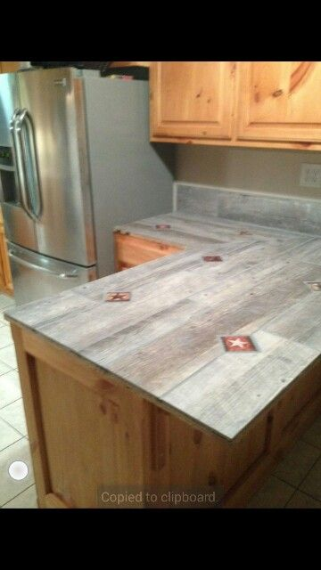My Countertops Made From Porcelain Tile Planks With Porcelain