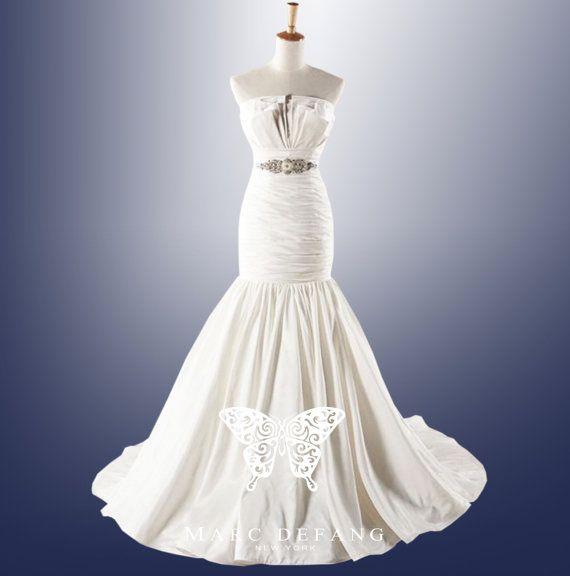 Gathered Mermaid LUXURY Bridal Wedding Gown by MDNY on Etsy, $399.00