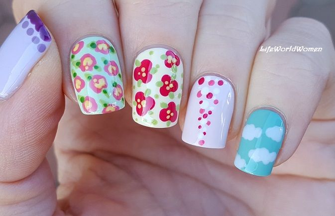 5 Easy Nailart Designs Using Toothpick Nail Art Pinterest