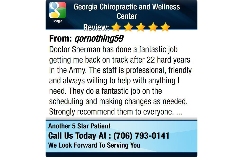 Doctor sherman has done a fantastic job getting me back on