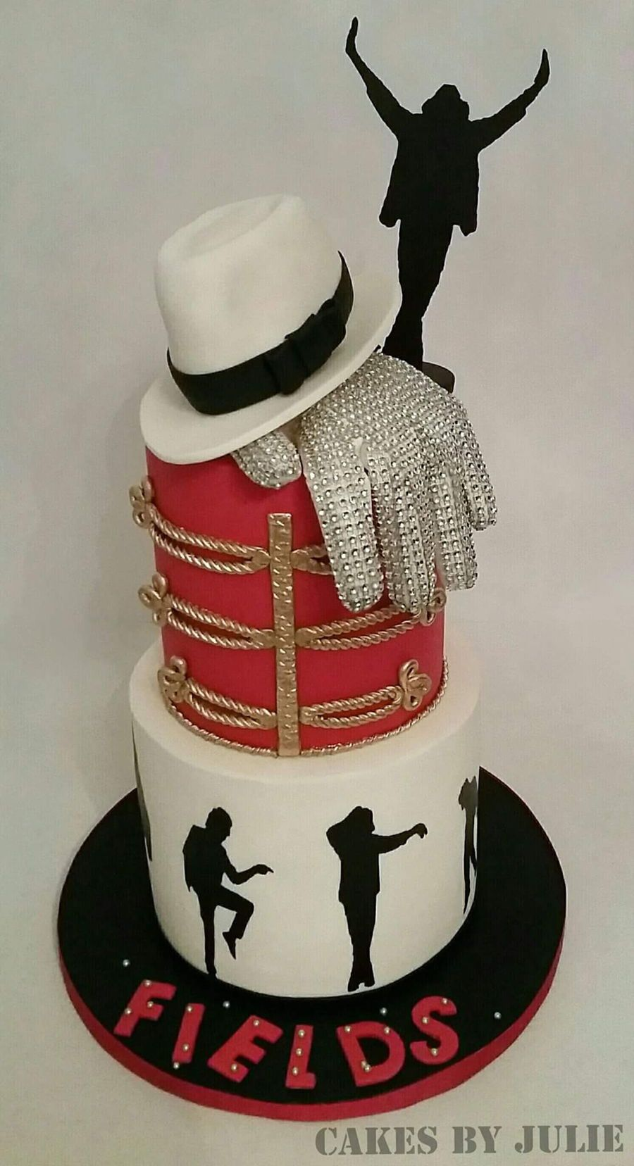 Cool Michael Jackson Themed Birthday Cake With Images Michael Personalised Birthday Cards Cominlily Jamesorg