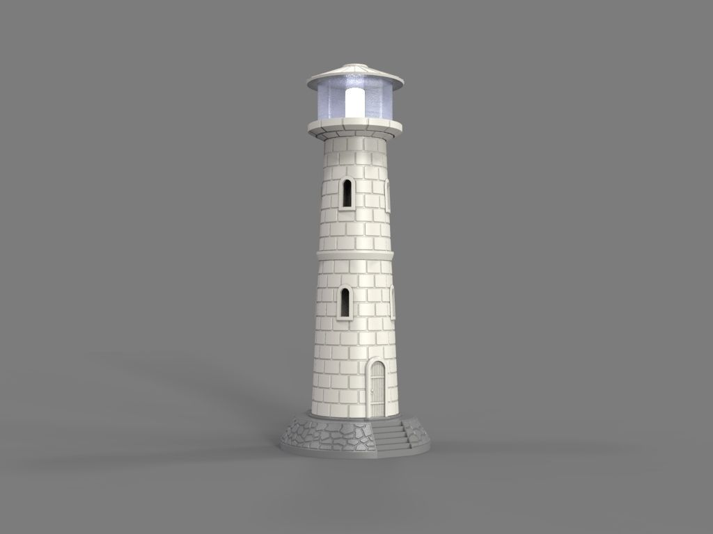Lighthouse Led Lamp 3d Print Model Lighthouse Lighthouse Lamp 3d Printing
