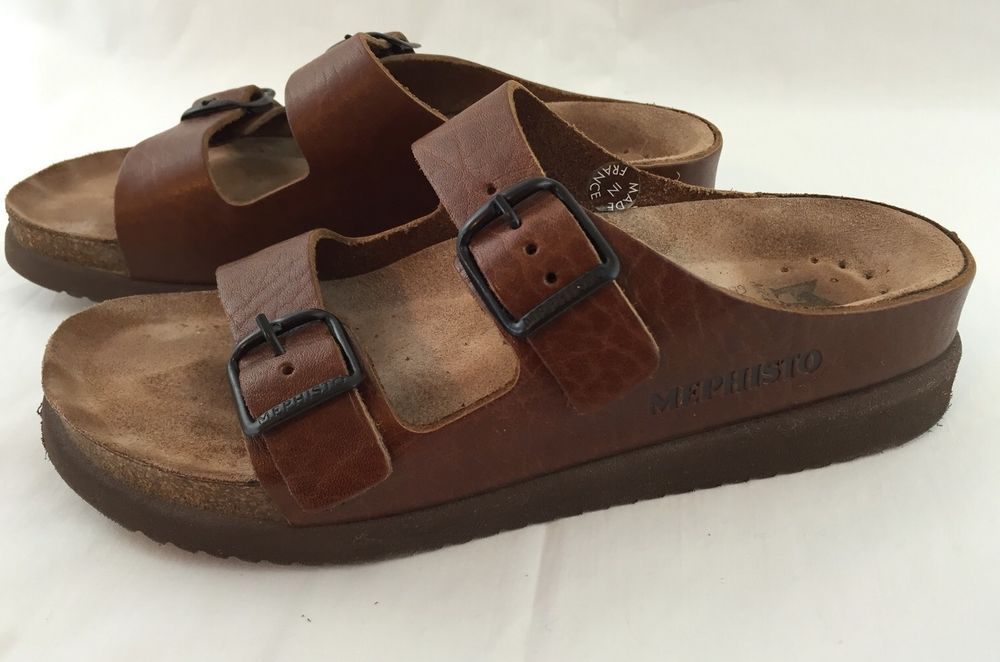 82ac45763efd Womens Mephisto Leather Sandals Thongs Brown US 7A (EU 37) Made in France   Mephisto  SandalsThongs  Casual