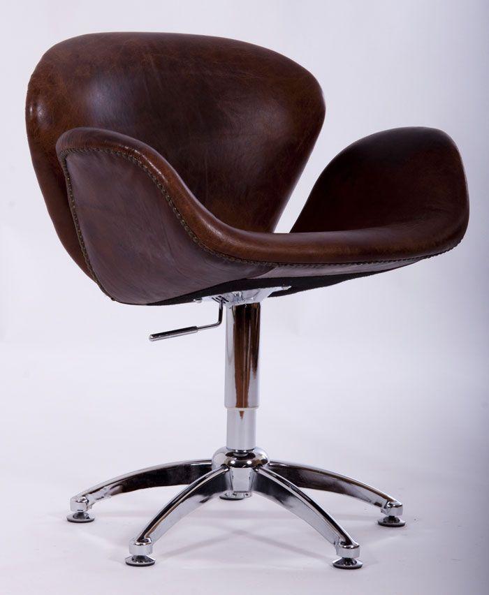 Büro Leder Drehstuhl MANO Sessel Designklassiker Stuhl Ledersessel - stühle für wohnzimmer