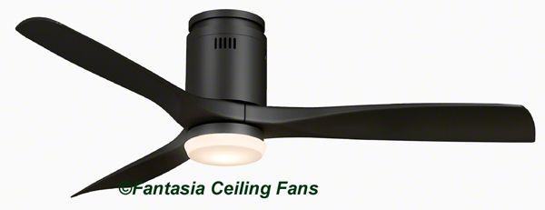 Fantasia Elite Fans 115083 52in Zeta Matt Black Ceiling Fan With