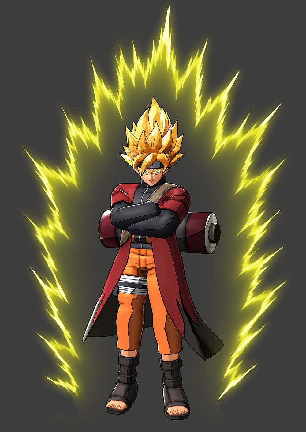 Goku naruto uzumaki sage mode costume dragon ball z - Naruto and dragonball z ...