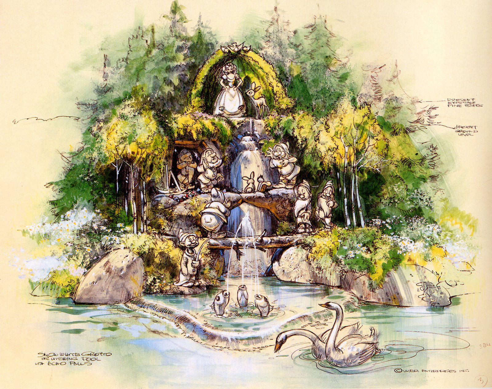 Snow White Grotto Disneyland