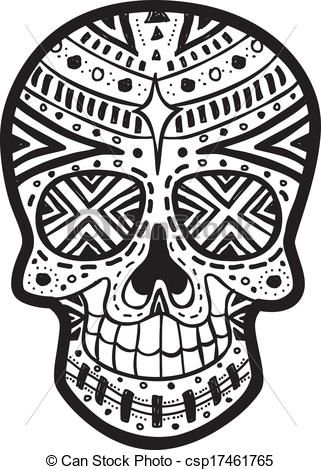 mexican art black and white - Google Search | Skull ...