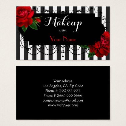 Makeup artist business card makeup artist gifts style stylish makeup artist business card reheart Images