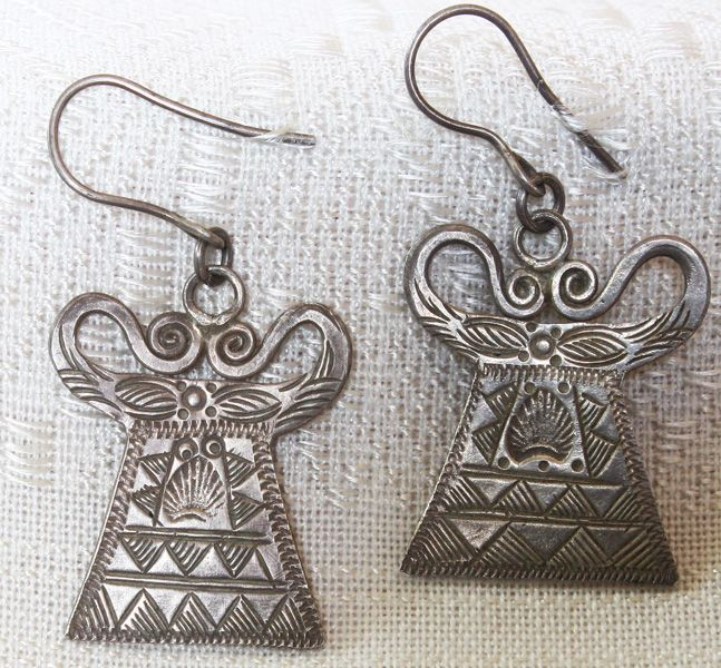 Antique Tribal Hmong Silver Soul Lock Pendant Earrings available at  http://www.sabaidesignsgallery.com/index.php?cat=c12_Tribal-Jewellery.html