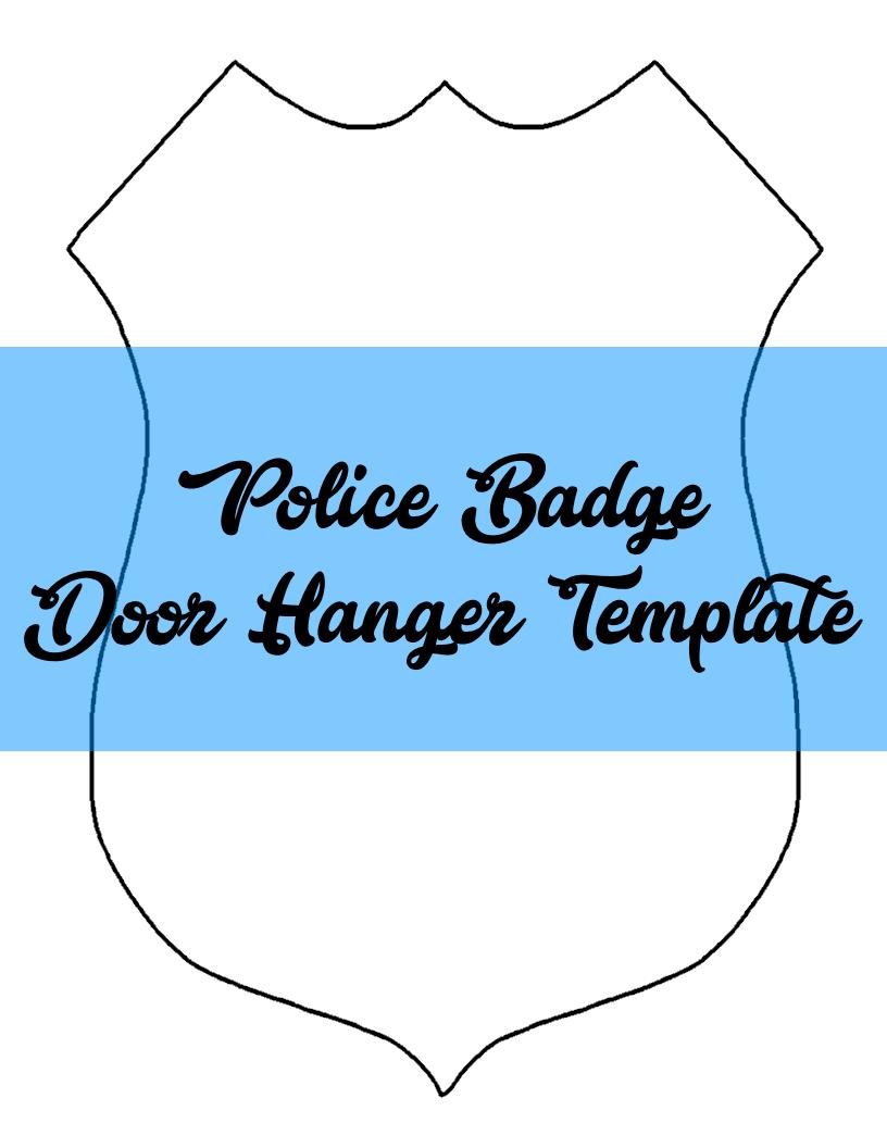 Police Badge Door Hanger TEMPLATE   Door Hanger Templates ...