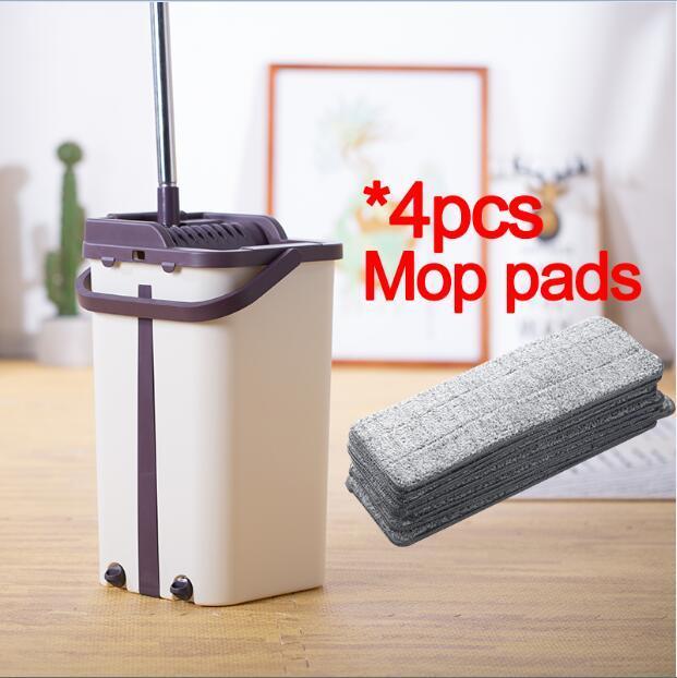 Sdarisb Magic Cleaning Mops Free Hand Spin Mop With Bucket Fiber Cloth Floors Squeeze Spray Flat Mop Home Kitchen Floor Cleaner In 2020 Floor Cleaning Mop Cleaning Mops Microfiber Mop Pads