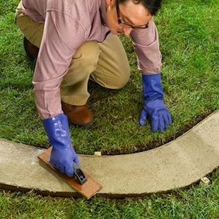 How To Make Concrete Garden Edging Concrete Garden Concrete Garden Edging Garden Edging