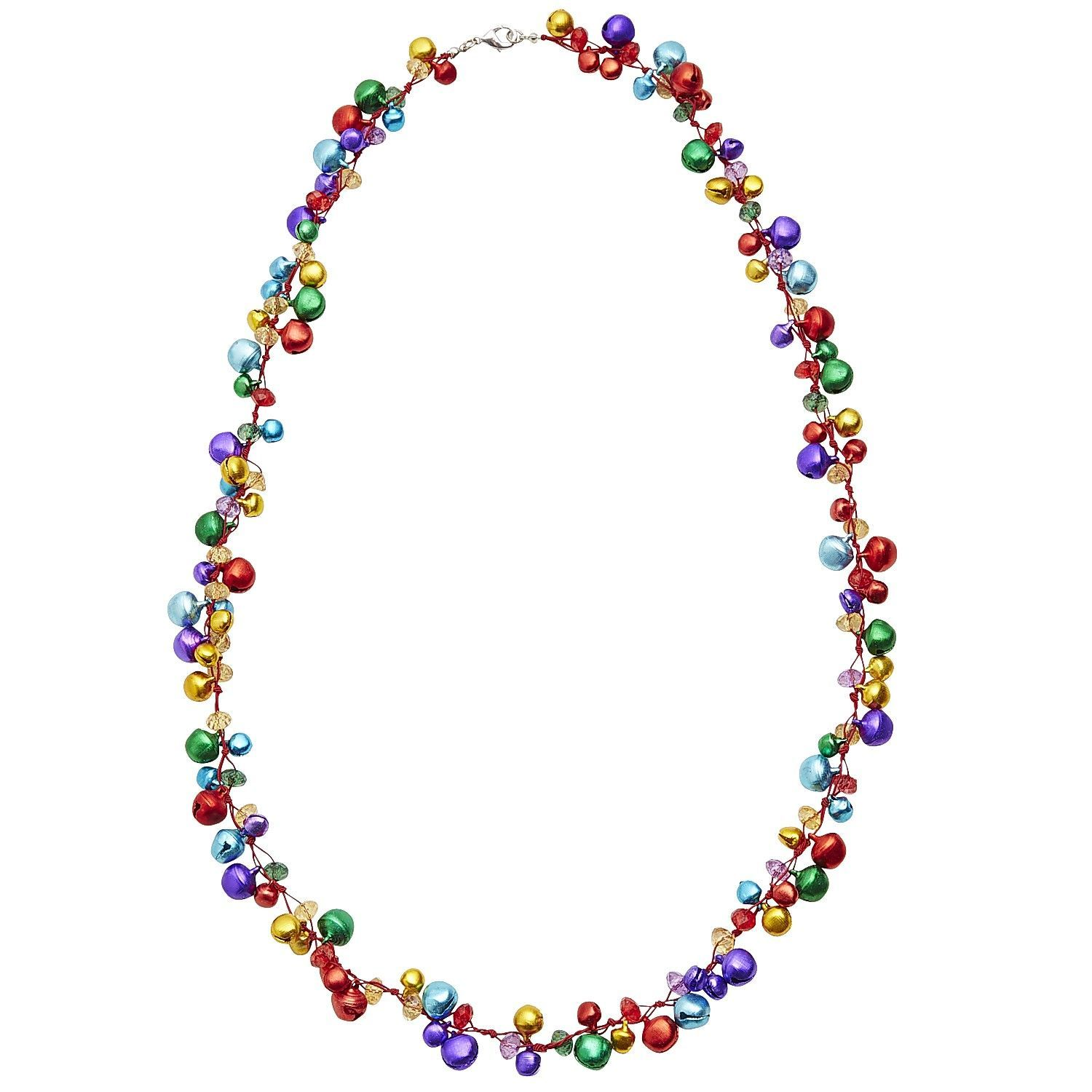 Jingle Bell Necklace Necklace, Beaded necklace, Jingle bells