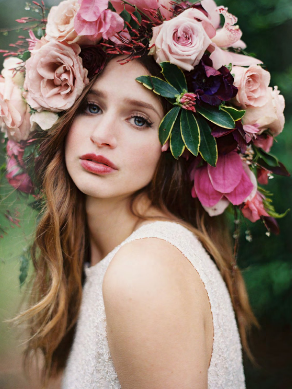Magnolia Rouge Issue 5 Flowers In Hair Floral Headdress Bridal Flower Crown