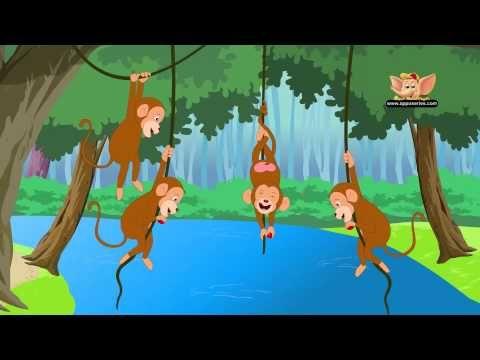 Five Little Monkeys Swinging In A Tree Nursery Rhyme Five