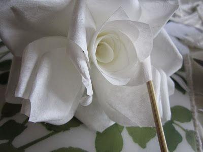 Suodatinpussiruusu ohje, Sisustus, Valkoinen #suodatinpussi ruusu