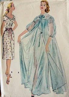 f4787140c6 stunning vintage peignoir pattern. stunning vintage peignoir pattern Sewing  Lingerie ...