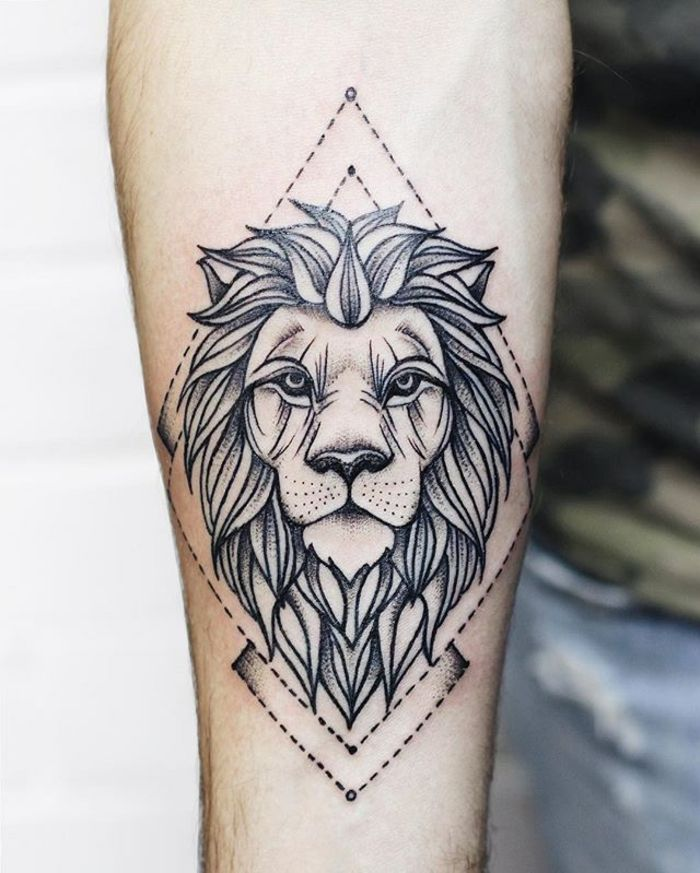 1001 id es en photos de tatouage lion inspirez vous de l 39 art des tatoueurs tatouage avec. Black Bedroom Furniture Sets. Home Design Ideas