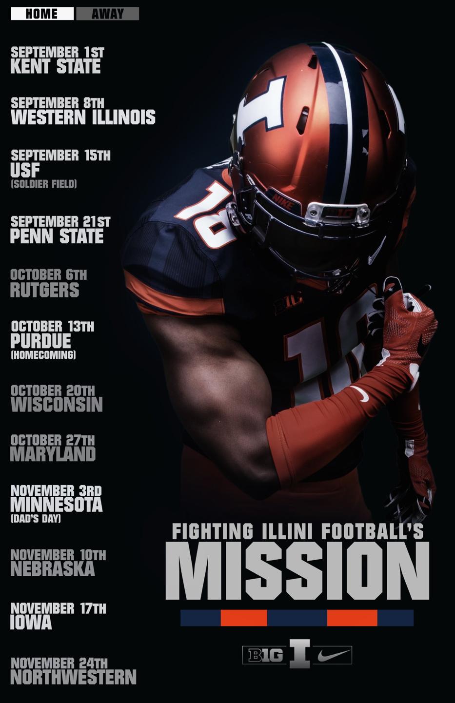 Illinois Fighting Illini Football Sports Graphic Design Sports Pictures