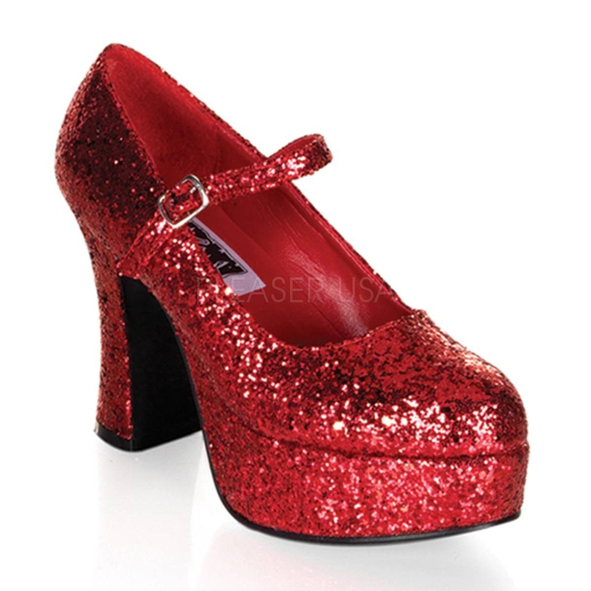 25e7ba83a41d MARYJANE 50G ° Damen Pumps ° Rot Glitter ° Funtasma  pumps  damenschuhe   fashion