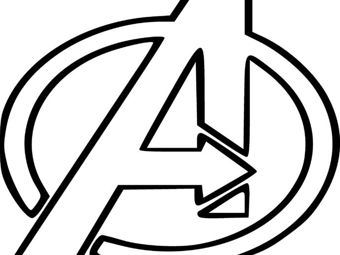 Avengers logo Avengers coloring pages Superhero symbols