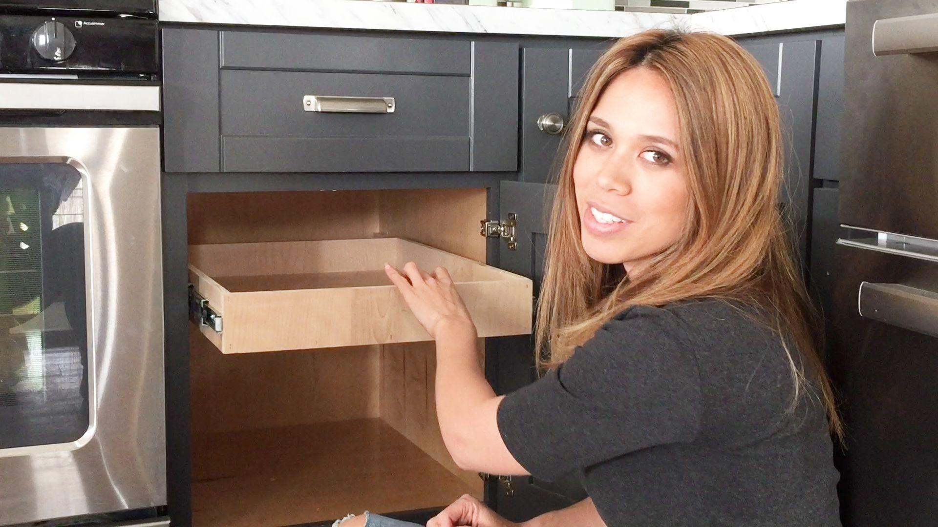 Ryobi Nation Pull Out Drawer Tutorial Diy Kitchen Cabinets Diy Cabinets Diy Furniture