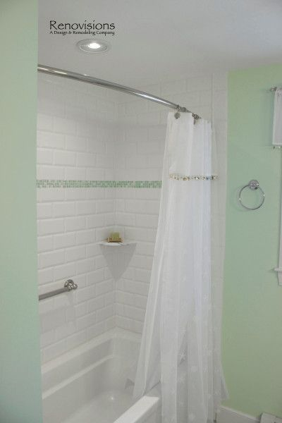 Straight Vs Curved Shower Rods Shower Rod Bathroom Shower