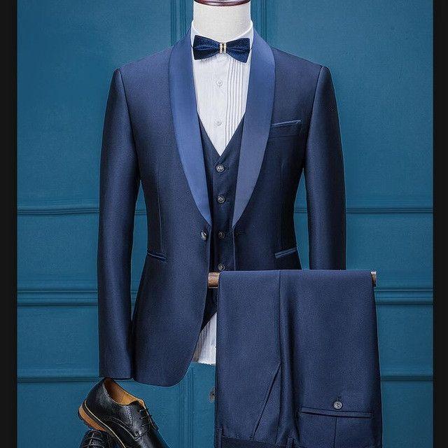 Pant 2PCs Mens Formal Suit Groom Wedding Suit Slim Fit Party Tuxedo Jacket Coat