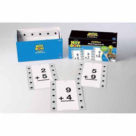 Educational Insights Hot Dots Math Flash Cards- Addition, Assorted
