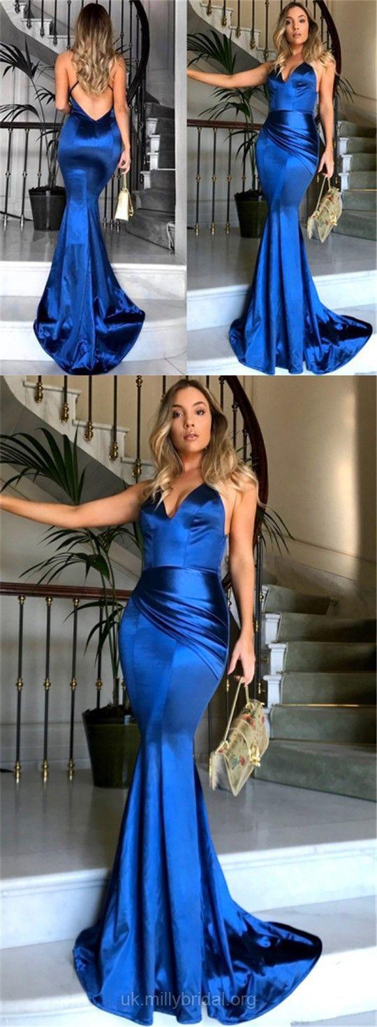Long prom dresses blue mermaid prom dresses formal prom dresses