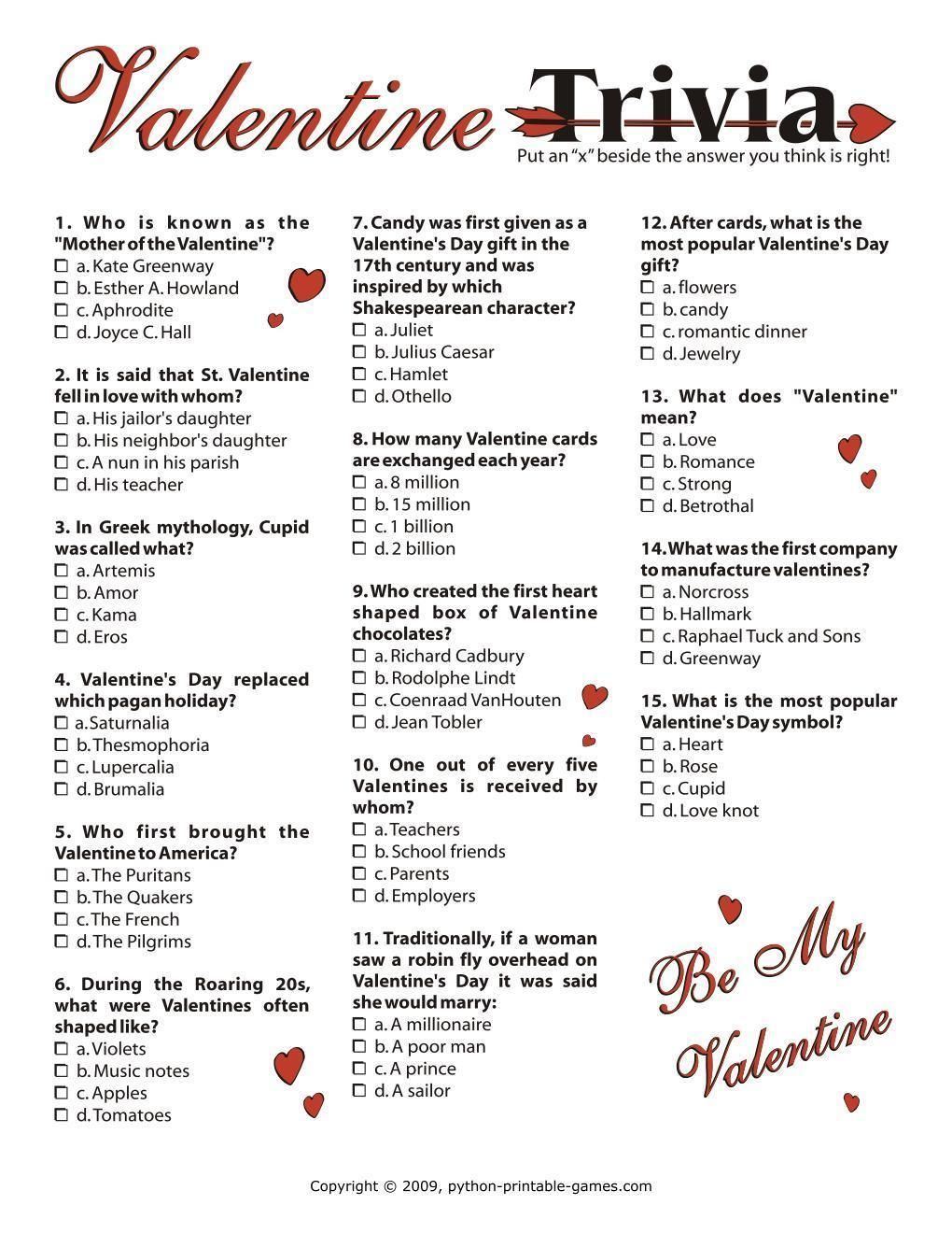Print Games Now Offers The Best Quality Printable Games For Valentines Day Choose Download An In 2020 Valentines Day Words Valentines Day Trivia Valentine Party Game