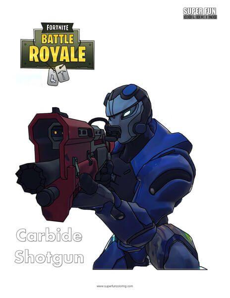 Fortnite Carbide Shotgun Coloring Page Super Fun