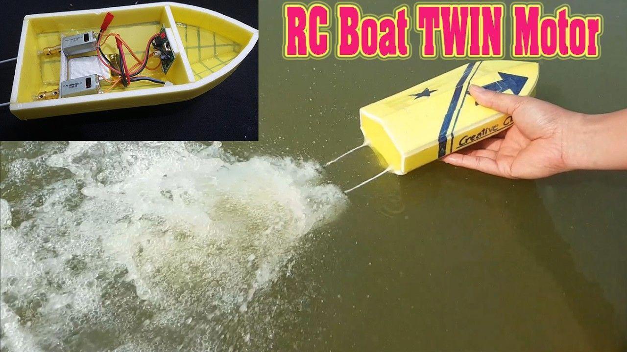 How to make mini rc boat twin 180 motor radio control