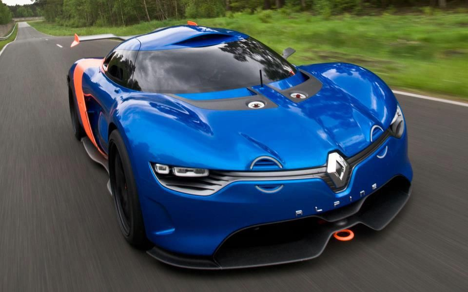 Beautiful Renault Alpine Concept Sports Car The Three Stage Extendable Rear  Wing.