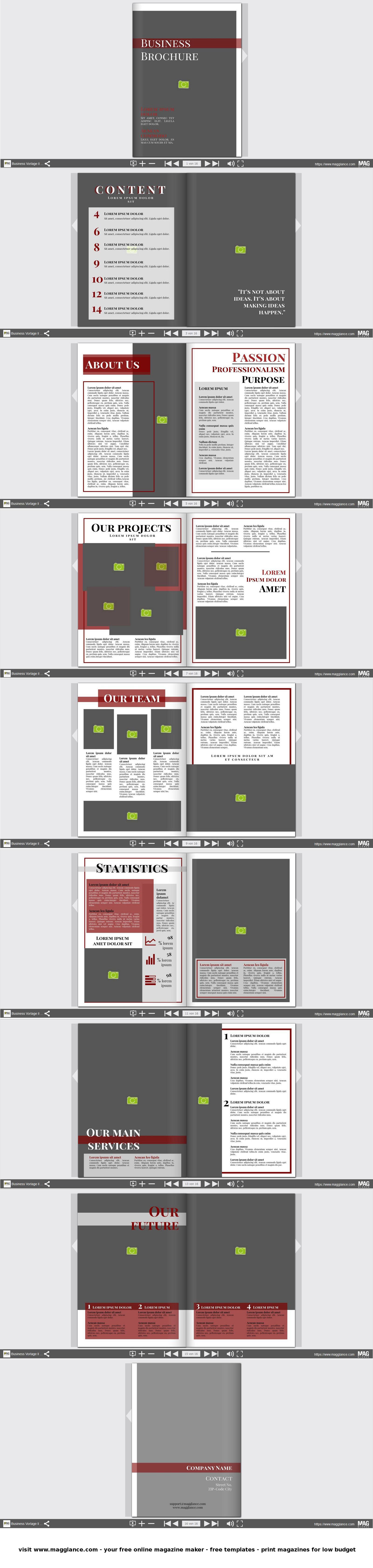 Business Broschüre kostenlos online erstellen und günstig drucken ...