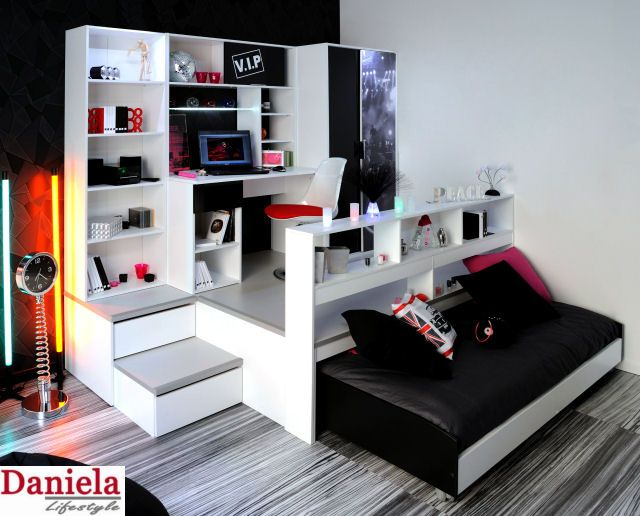 jugendzimmer bett schrank schreibtisch komplett neu. Black Bedroom Furniture Sets. Home Design Ideas