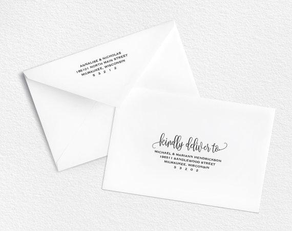 Envelope Template, Printable Envelope, Wedding Envelope Printable - a7 envelope template