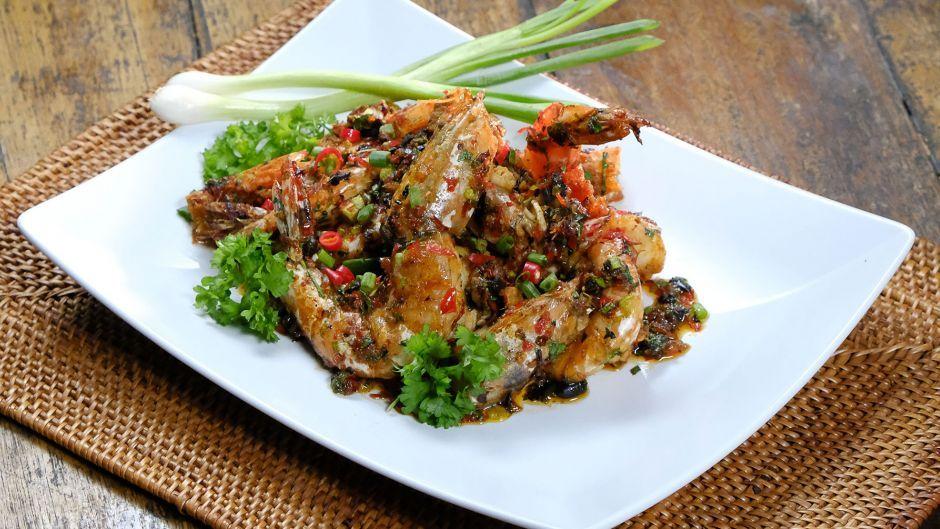 Stir fried prawns with tau si and chilli asian food channel stir fried prawns with tau si and chilli asian food channel forumfinder Choice Image