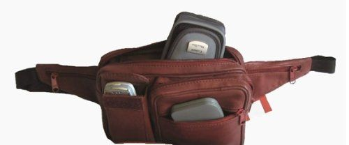 Leather Rectangular Waist Pack with Cell Phone Pocket - Listing price: $35.00 Now: $24.95