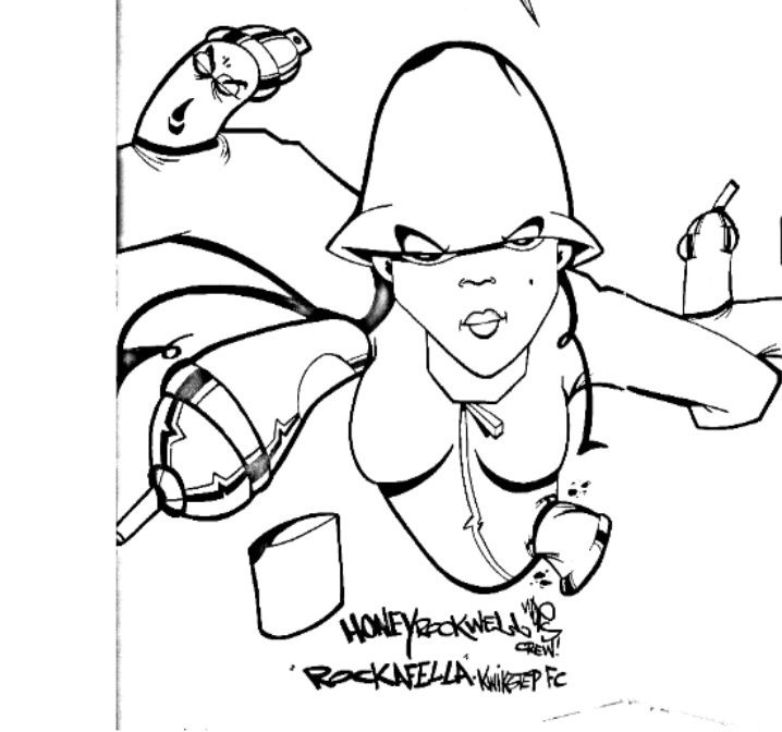 Honey Rockwell | Hip Hop Coloring Book compiled by Jamee Schleifer ...