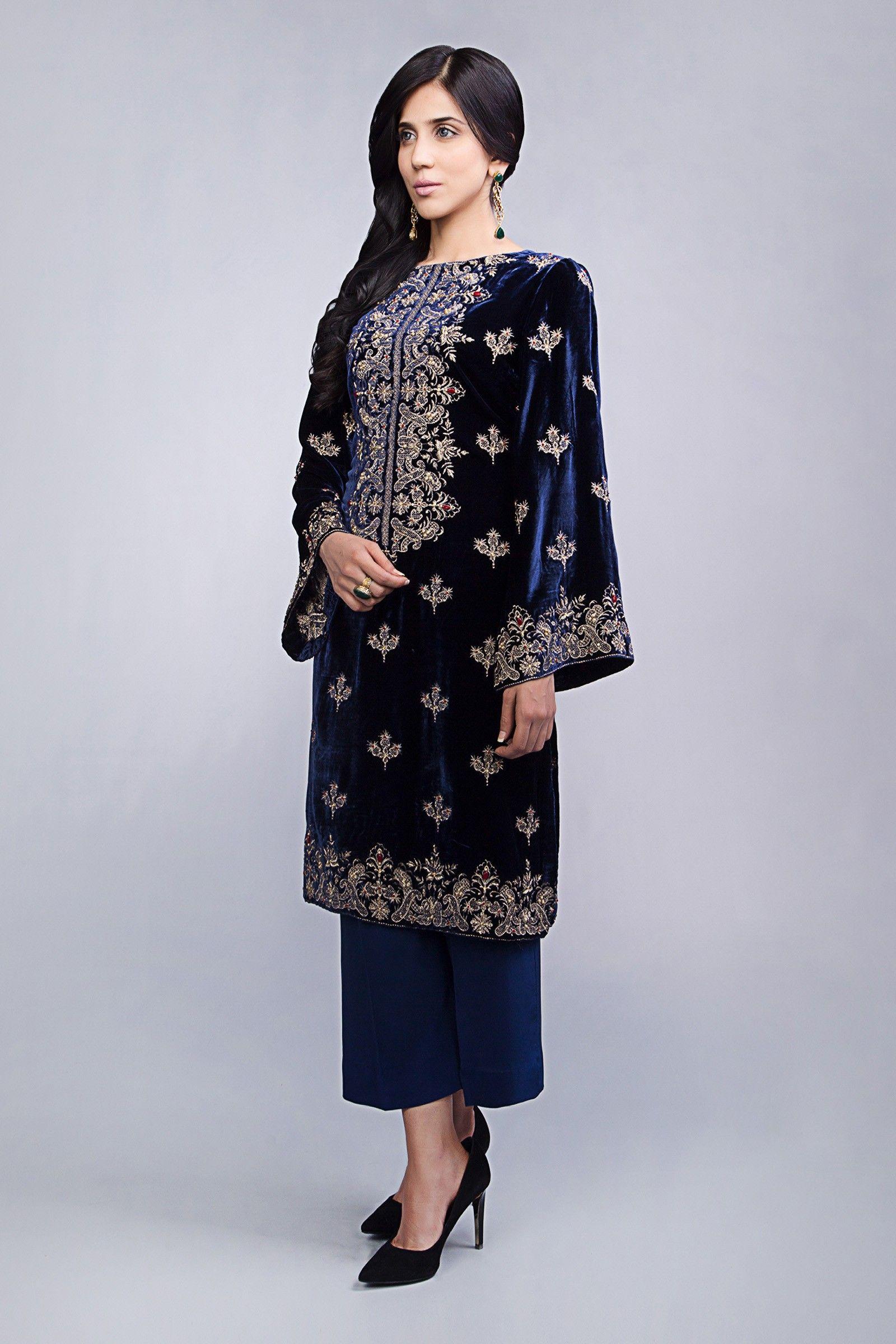 Pakistani salwar kameez Ready Made designer Velvet Suit  Embroidered 2019 3pc