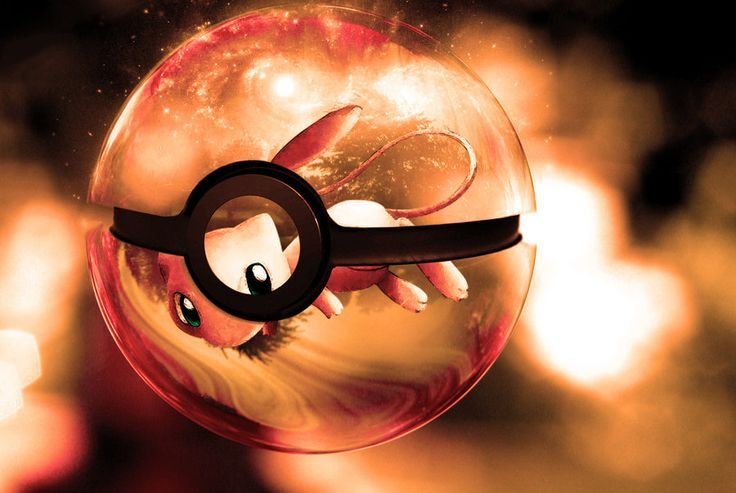 Mew in pokeball