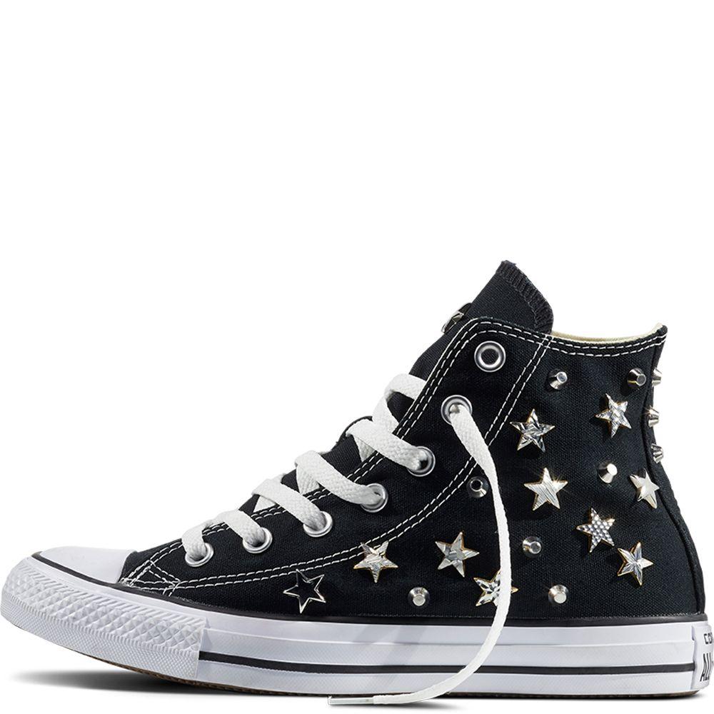 Chuck Taylor All Star Star Studded Schwarz/Schwarz/Weiß
