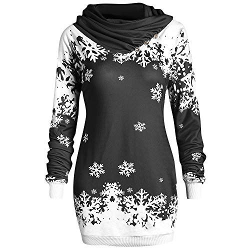 23598844b4b New ShenPr Womens Merry Christmas Snowflake Printed Cowl Neck Sweatshirt  Blouse Tunic Pullovers Tops Clearance. Christmas Clothing   9.54 - 14.22   from top ...