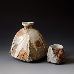 Just Came Out From My Wood Firing Kiln Yesterday Sake Guinomi Tokkuri Clay Woodfired Akirasatake Pottery Bottles Japanese Ceramics Ceramics