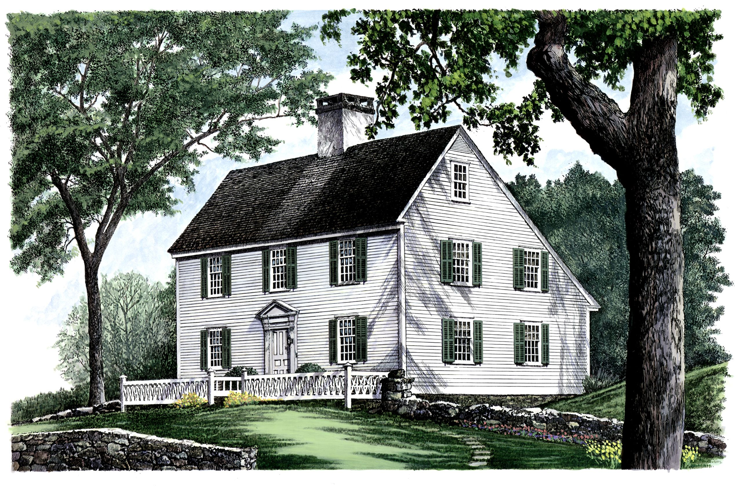 Plan 32439wp Saltbox Style Historical House Plan Historical House Plans Colonial House Plans House Plans