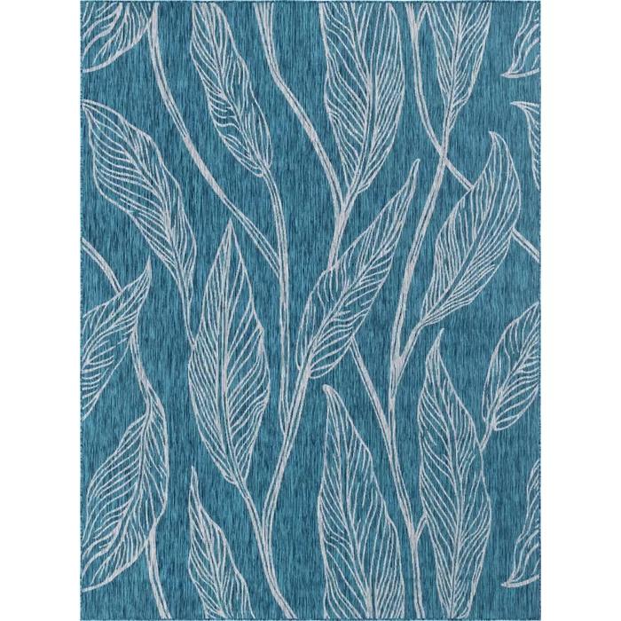 Kwiatkowski Floral Blue Beige Indoor Outdoor Area Rug In 2020 Unique Loom Area Rugs Outdoor Area Rugs